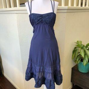 Free People Blue Boho summer dress Sz 2